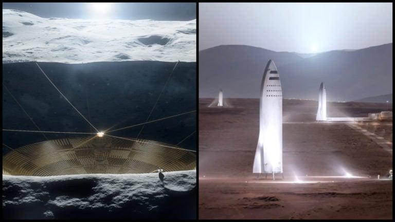 NASA ide utrácať: Na Mesiaci bude obrovský rádioteleskop a takto postavíme budovy pre osídlenie Marsu