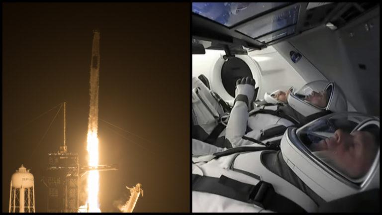 AKTUÁLNE: SpaceX odštartoval, na použitej rakete a kapsule práve letia na ISS štyria astronauti