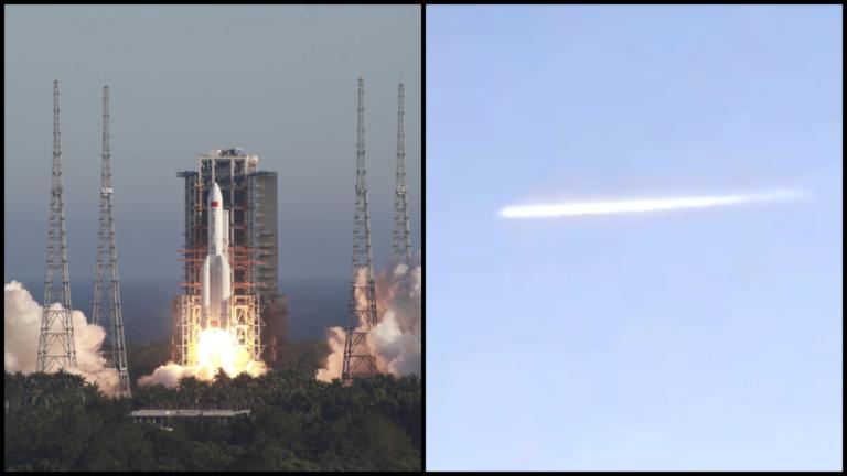 Čínska raketa zasiahla Zem, poznáme oblasť, kam trosky dopadli. 20-tonové teleso zachytili pri páde na videách