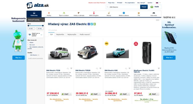 Alza začala predávať elektromobily, ich základ tvorí aj socialistická legenda. Cenou a parametrami však nepríjemne prekvapia