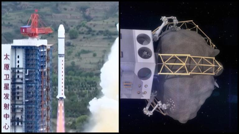 Čína vyniesla do vesmíru satelit na lov asteroidov, na palube bola aj záhadná pozorovacia družica