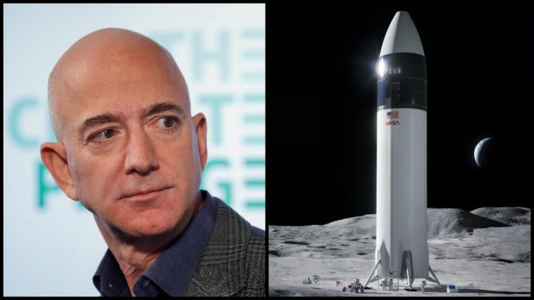 Výpredajová dvojmiliardová zľava Bezosa nepomohla. SpaceX pristane s ľuďmi na Mesiaci