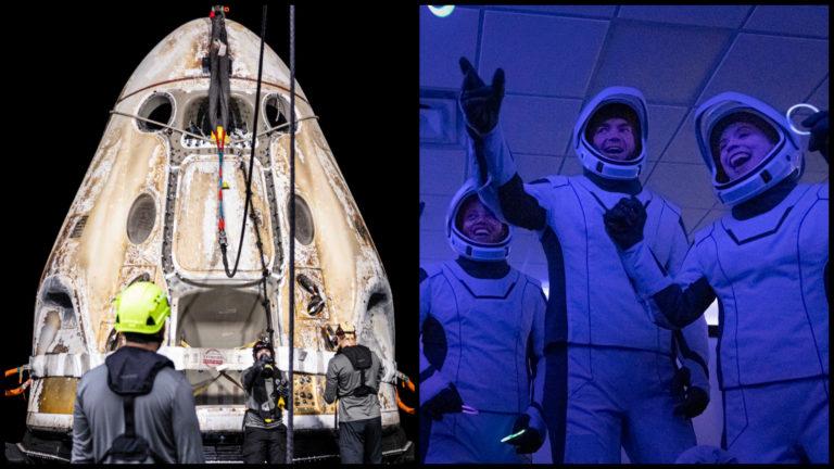 KONIEC VÝLETU: Turisti so SpaceX po 3 dňoch vo vesmíre práve pristáli, Musk daruje na charitu 50 miliónov